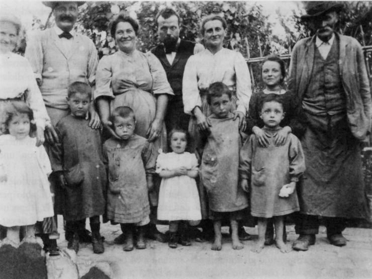contadini famiglia