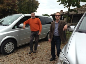 Ermanno and Emanuele - drivers extraordinaire!
